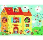 Ház puzzle 3D-s képekkel- House optic puzzle - 12 db-os kirakó