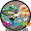 Csillámkép készítés képkerettel Pillangók (Buki kreatív játék, 6-12 év)