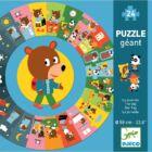 Óriás körpuzzle - Mackó egy napja (Djeco, 7015, 2-4 év)