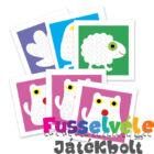 Vonalvezető játék, Állatok (Djeco, 8939, kreatív játék, 3-6 év)