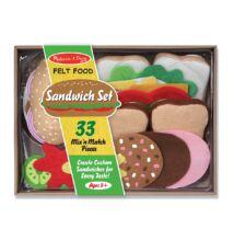 Szendvics készítő szett puha anyagból (Melissa Doug, konyhai szerepjáték, 2-8 év)