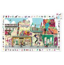 Megfigyelő puzzle, Utcai művészet (Djeco, 7453, 200 db-os kirakó, 6-12 év)