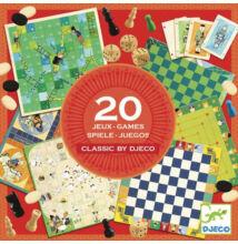 Társasjáték gyűjtemény (Djeco, 5219, klasszikus játékok, 6-99 év)