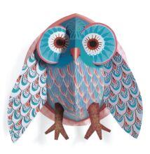 3D-s falikép, Bagoly  (Djeco, 4927, gyerekszoba dekor, 0-12 év)
