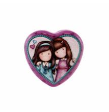 Szív alakú fémdoboz - Friends Walk Together