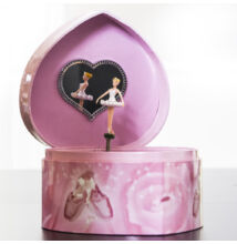 Zenélő ékszerdoboz, Balerina (szív alakú) (Musicbox, zenedoboz, 3-99 év)