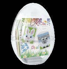 Húsvéti tojás, Nyuszi és bárány (Pixelhobby kulcstartó, 2 db, 7-99 év)