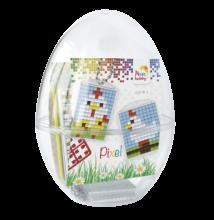 Húsvéti tojás, Tyúkok (Pixelhobby kulcstartó, 2 db, 7-99 év)