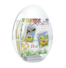 Húsvéti tojás, Csibék (Pixelhobby kulcstartó, 2 db, 7-99 év)
