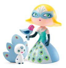 Arty Toys hercegnő pávával - Klotild (Djeco, 6784, játékfigura, 3-10 év)