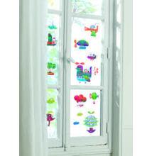 Újraragasztható ablakmatrica, Repülők (Djeco, 5053, gyerekszoba dekor, 0-12 év)