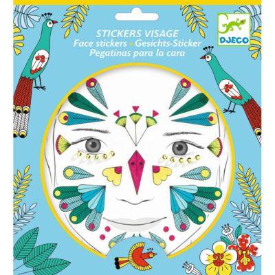 Arc dekoráló készlet, Madár (Djeco, 9210, kreatív játék, 3-12 év)