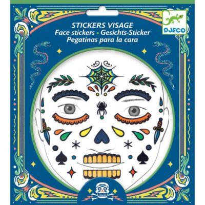 Arc dekoráló készlet, Koponya (Djeco, 9218, kreatív játék, 3-12 év)