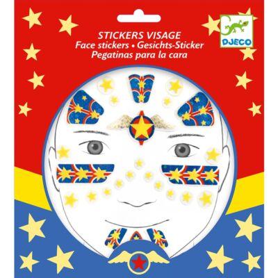 Arc dekoráló készlet, Szuperhős (Djeco, 9219, kreatív játék, 3-12 év)