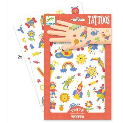Tetoválás, Cuki (Djeco,9589, kreatív játék, 3-10 év)