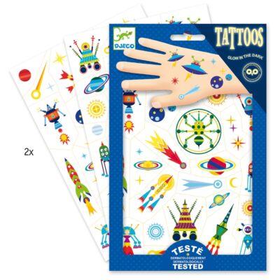 Tetoválás, Égi jelenségek (Djeco,9590, kreatív játék, 3-10 év)
