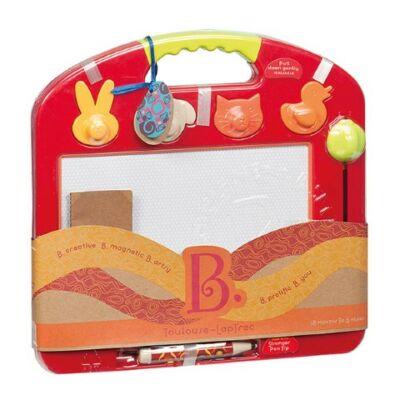 B.TOYS  Törölhető mágnespor rajztábla - TOMATO