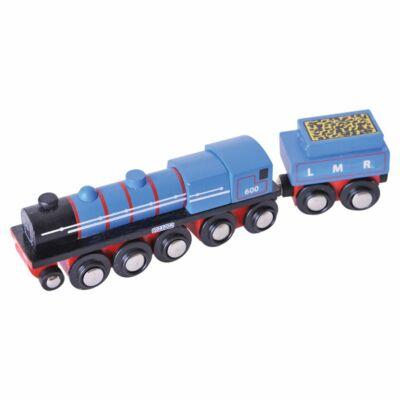 Fa vonat szett, LMR mozdony (Bigjigs, építőjáték, 2-8 év)