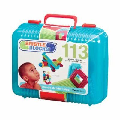 BRISTLE BLOCKS Hajlítható tüskeépítő, 113db bőröndben (Bébi építőjáték, 18 hó-5 év)