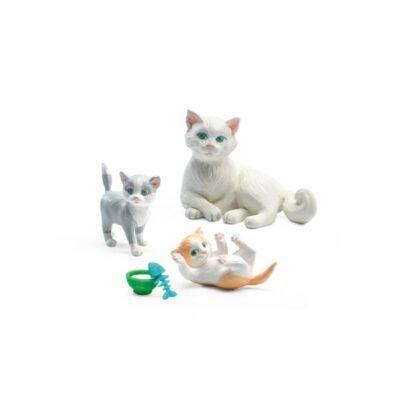 Macskák (Djeco, 7817, babaház állatfigura, 3-12 év)