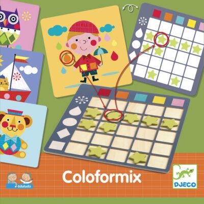 Coloformix (Djeco, 8355, szín-forma egyeztető, 3-6 év)