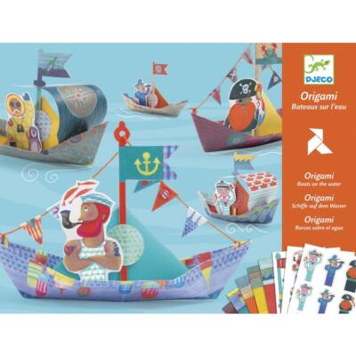 Origami, Csónakok (Djeco, 8779, kreatív játék, 5-10 év)