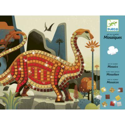 Mozaikkép készítő, Dino, Csillámos (Djeco, 8899, kreatív játék, 3-6 év)