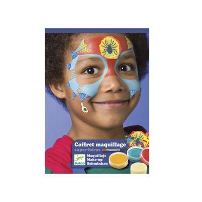 Arcfesték, Szuperhősök, 3 szín (Djeco,9200, arcfesték, 3-12 év)