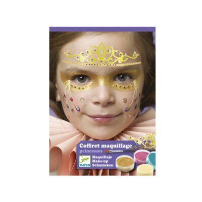 Arcfesték, Hercegnő, 3 szín (Djeco, 9207, arcfesték, 3-12 év)