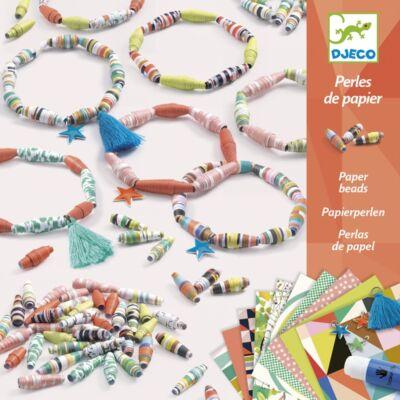 Ékszerkészítő, Papír gyöngyök (Djeco, 9404, kreatív játék, 7-13 év)