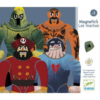 Mágneses puzzle játék, Haramiák (Djeco, 3122, fiús kirakó, 4-6 év)