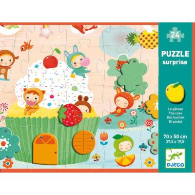 Óriás puzzle, Mozgó részekkel (Djeco, 7012, 24 db-os kirakó, 2-5 év)
