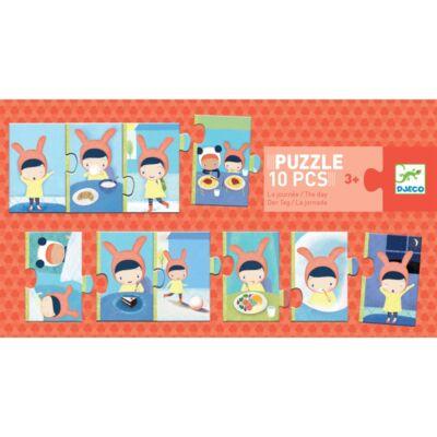 10 db-os puzzle, Egy nap (Djeco, 8179, 2-4 év)