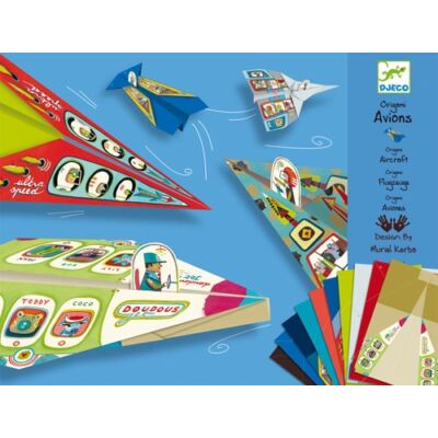 Origami, Repülők (Djeco, 8760, kreatív játék, 5-10 év)