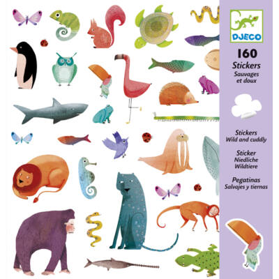 Matrica készlet, Vadak és szelídek  (Djeco, 8883, kreatív játék, 3-10 év)