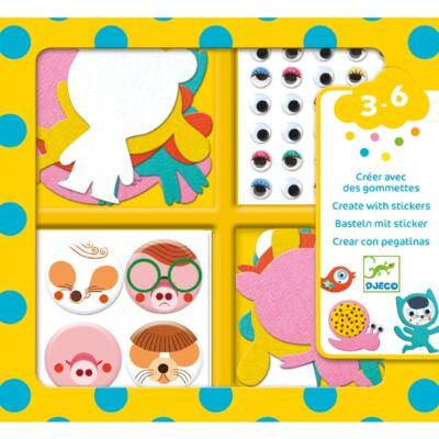 Matricázó képkészítés - Állati - I love animals (Djeco, 9050, kreatív játék, 3-6 év)