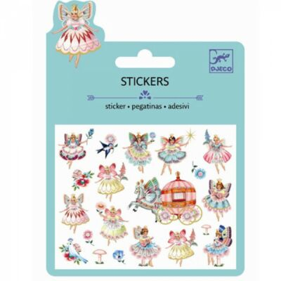 Csillámos matrica, mini, Fairies and tiny wings (Djeco, 9783, kreatív játék, 3-10 év)