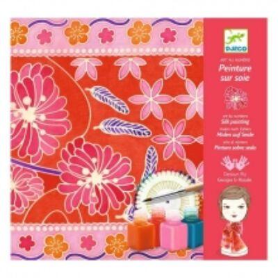 Selyemfestő, Japán kert (Djeco, 9851, kreatív játék, 8-99 év)