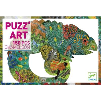 Művész puzzle, Chameleon - 150 db-os puzzle (Djeco, 7655, kirakó)