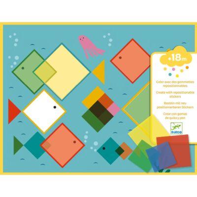 Kreatív készlet kicsiknek, Mágikus négyzetek (Djeco, 8975, kreatív készlet, 1,5-4 év)
