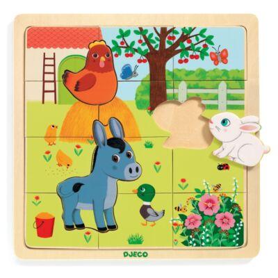 Képkirakó, puzzle - Tanya puzzle (Djeco, 1814, 3-6 év)