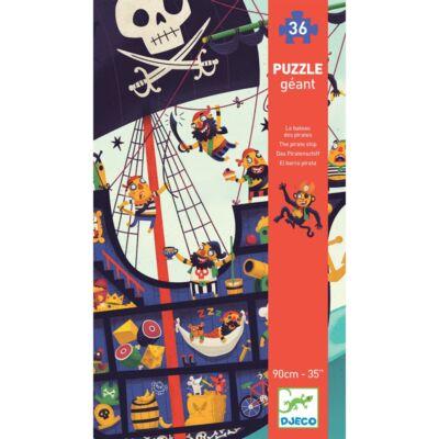 Óriás puzzle, Kalózhajó (Djeco, 7129, 36 db-os kirakó, 3-6 év)