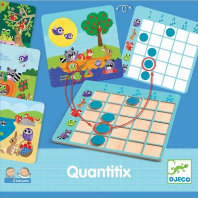 Quantitix (Djeco, 8358, szín-forma egyeztető, 2-4 év)