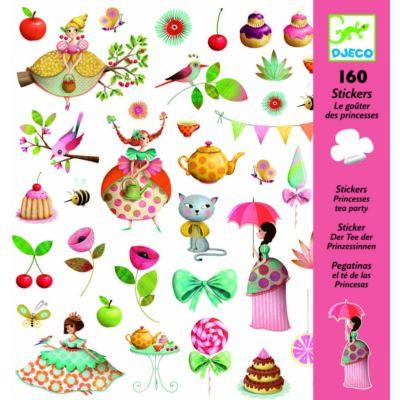 Matrica készlet, Hercegnő teadélutánja (Djeco, 8884, kreatív játék, 3-10 év)