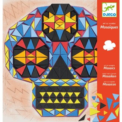 Mozaikkép készítő, Koponyák - John doe (Djeco, DJ08889, kreatív játék, 8-14 év)
