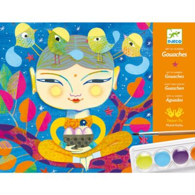 Művészeti festőműhely, -  India (Djeco, 8964, kreatív játék, 7-13 év)