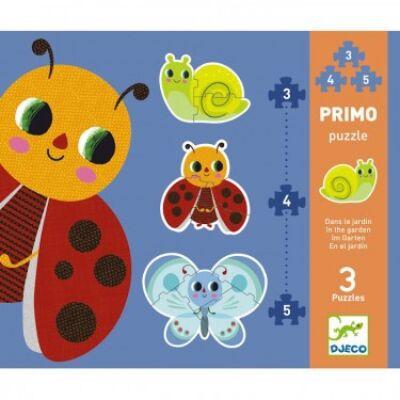 Óriás puzzle, Kertben (Djeco, 7141, 3, 4, 5 db-os kirakó, 2-4 év)