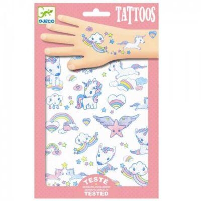 Tetoválás, Unikornis (Djeco, 9575, lányos kreatív játék, 3-10 év)