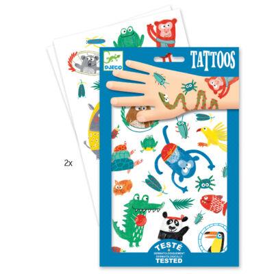 Tetoválás, Jópofa figurák (Djeco, 9576, kreaív játék, 3-10 év)
