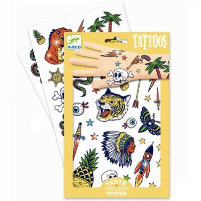 Tetoválás, Bang Bang (Djeco, 9577, fiús kreatív játék, 3-10 év)